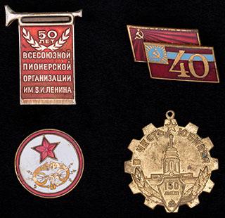Лот из знаков СССР различной тематики. 4 шт.
