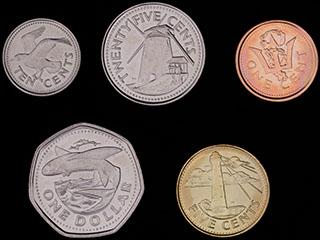 Барбадос. Лот из монет 2008-2009 гг. 5 шт.