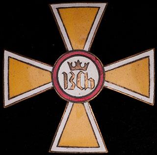 Польша. Знак 17-го Великопольского уланского полка. II половина ХХ в. Бронза, позолота, эмаль. Оригинальная закрутка утрачена