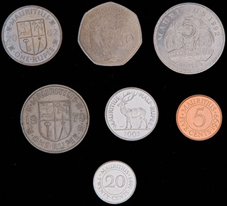 Маврикий. Лот из монет 1978-2003 гг. 7 шт.
