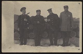 Групповая фотография служащих Министерства Путей Сообщения. Почтовая карточка