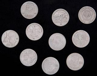 Лот из памятных рублей 1984-1990 гг. 10 шт.