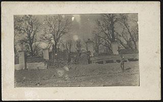Руины костела в Едвабне. Почтовая карточка