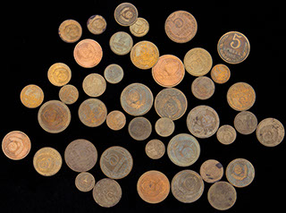 Лот из монет 1977-1991 гг. 43 шт.
