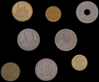 Египет. Лот из монет 1984-2008 гг. 8 шт.