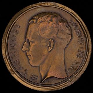 Бельгия. «Офлаг II А Пренцлау». Томпак. Диаметр 49,9 мм. В оригинальной коробке