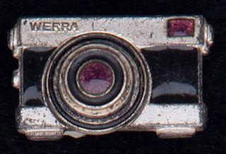 «Фотоаппарат Werra». Металл белого цвета, эмаль