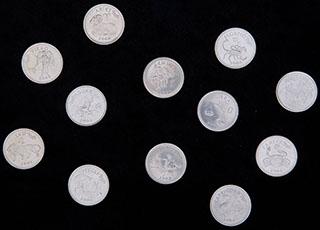 Сомалиленд. Лот из 10 шиллингов 2006 г. «Знаки Зодиака». 12 шт.