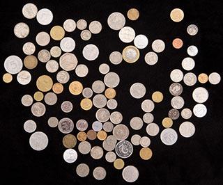 Лот из иностранных монет 1906-2011 гг. 98 шт.