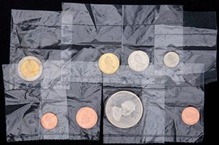 Тристан-да-Кунья. Лот из монет 2008 г. 8 шт.