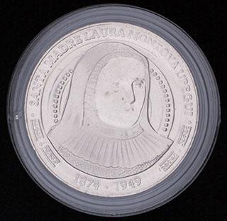 Колумбия. 5 000 песо 2015 г. «Лаура Святой Екатерины Сиенской». Медно-никелевый сплав