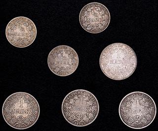 Германия. Лот из монет 1875-1916 гг. 7 шт.