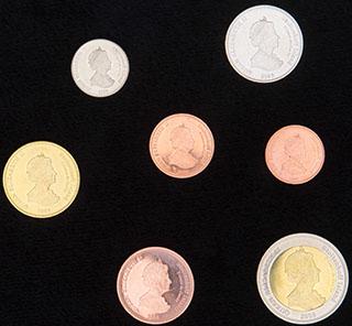 Тристан-да-Кунья. Столтенхоф. Лот из монет 2008 г. 7 шт.