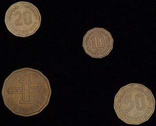 Уругвай. Лот из монет 1976-1981 гг. 4 шт.