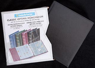 Альбом для монет Leuchtrum Optima-classic с 12 различными листами-обложками
