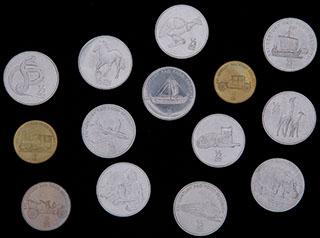 Северная Корея. Лот из монет 2002 г. 14 шт.