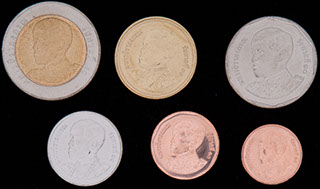 Таиланд. Лот из монет 2018 г. 6 шт.