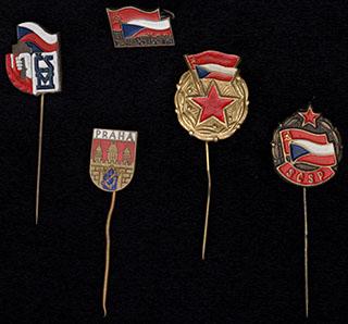 Чехословакия. Лот из знаков различной тематики. 5 шт.