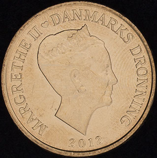 Дания. 20 крон 2012 г. «Корабли - Паром Король Фредерик IX». Алюминиевая бронза