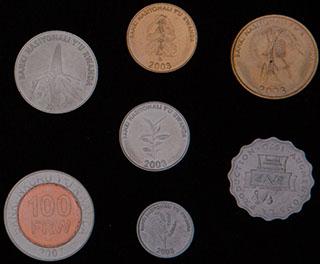 Руанда. Лот из монет 1970-2007 гг. 7 шт.
