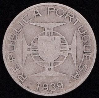 Сан-Томе и Принсипи. 2,5 эскудо 1939 г. Серебро