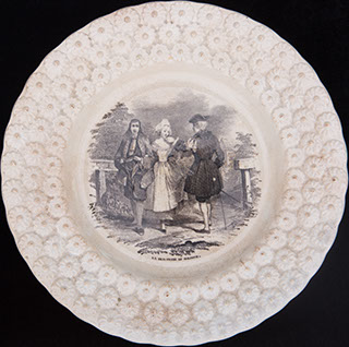 Декоративная тарелка «Соседство». Фарфор. Фирма «Boch Freres Keramis»