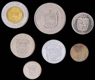 Панама. Лот из монет 2000-2011 гг. 7 шт.