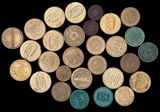 Лот из жетонов и монет. 29 шт.