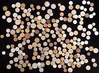 Лот из иностранных монет XX-XXI вв. 1 кг.