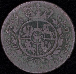 Польша. 3 гроша 1766 г. Медь