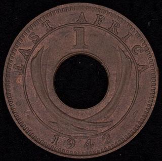 Британская Восточная Африка. 1 цент 1942 г. Медь