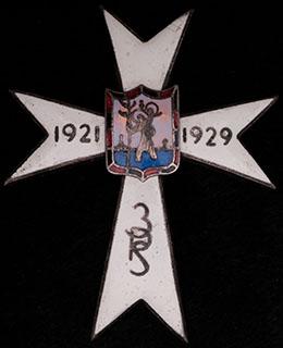 Польша. Полковой знак. II половина ХХ в. Бронза, серебрение, эмаль. Оригинальная закрутка утрачена