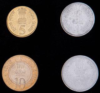 Индия. Лот из монет 2010 г. 4 шт.