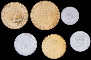 Словения. Лот из монет 1992-2000 гг. 6 шт.