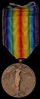 Бельгия. Союзническая медаль. Бронза. С оригинальной лентой