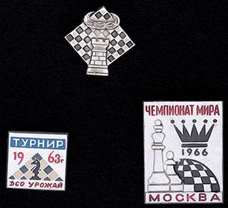 Лот из знаков шахматных турниров. 3 шт.