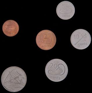 Фиджи. Лот из монет 1992-2010 гг. 6 шт.