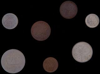 Норвегия. Лот из монет 1972-1996 гг. 7 шт.
