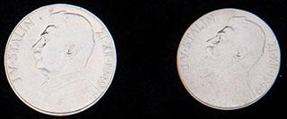 Чехословакия. Лот из монет 1949 г. «70 лет со дня рождения Иосифа Сталина». 2 шт. Серебро