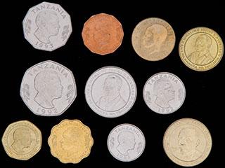 Танзания. Лот из  монет 1981-2012 гг. 11 шт.