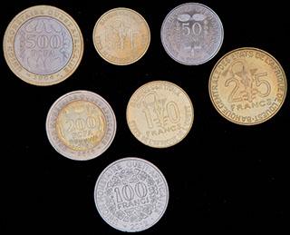 Западная Африка. Лот из монет 2004-2012 гг. 7 шт.