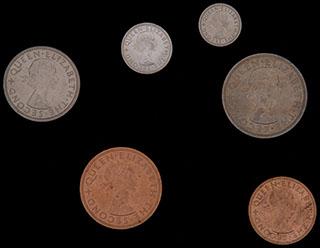 Новая Зеландия. Лот из монет 1965 г. 6 шт.