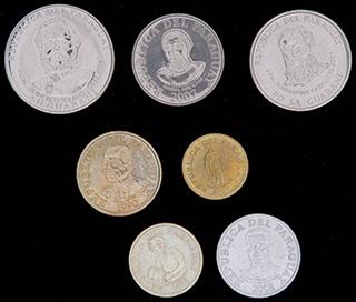 Парагвай. Лот из монет 1990-2008 гг. 7 шт.