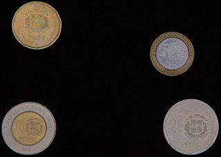Доминикана. Лот из монет 2002-2010 гг. 4 шт.