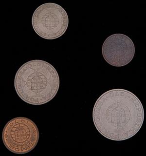 Тимор. Лот из монет 1970 г. 5 шт.