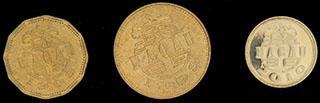 Макао. Лот из монет 1993-2010 гг. 3 шт.