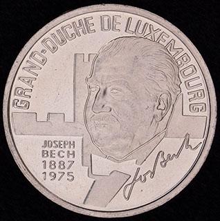 Люксембург. 5 экю 1993 г. «Жозеф Беш». Медно-никелевый сплав