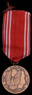 Польша. Медаль за заслуги. Бронза. С оригинальной лентой
