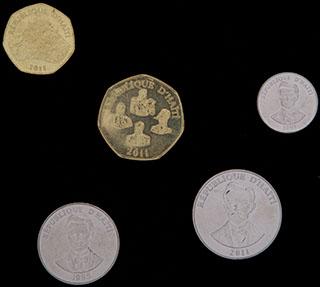 Гаити. Лот из монет 1995-2011 гг. 5 шт.