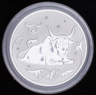 2 рубля 2005 г. «Знаки Зодиака. Телец». Серебро